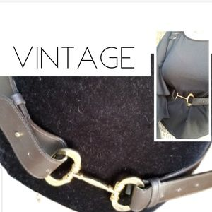 Vintage horsebit leather belt